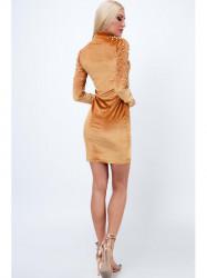 Šaty s perlami medové 6495