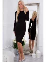 Šaty so zlatým zipsom čierne 65000