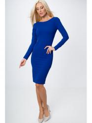 Šaty so zlatým zipsom modré