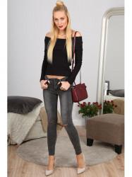 Šedé jeansy