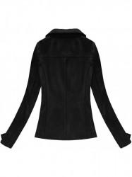 Semišová dámska bunda 6001, čierna