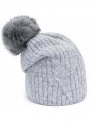 Sivá dámska čiapka