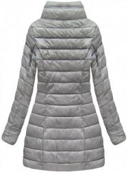 Sivá dámska obojstranná bunda B7107 #1