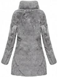 Sivá dámska obojstranná bunda B7107 #2
