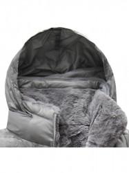 Sivá dámska obojstranná bunda B7107 #3