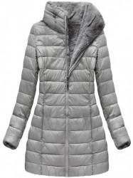Sivá dámska obojstranná bunda B7107 #4