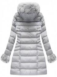 Sivá dámska zimná bunda W751BIG