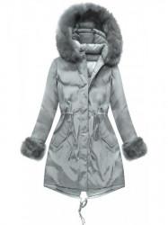 Sivá obojstranná zimná bunda PM7210