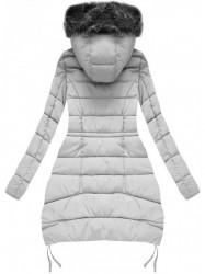 Sivá zimná bunda B3595