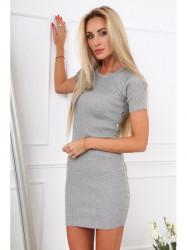 Sivé dámske šaty 08147