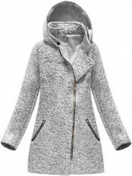 Sivý dámsky prechodný kabát 174ART