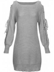 Sivý dámsky sveter 113ART