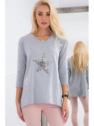 Sivý sveter s hviezdou