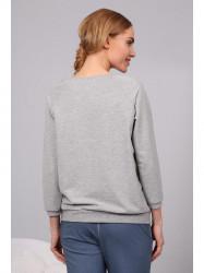 Sivý sveter s psou potlačou