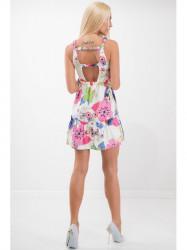 Smotanové šaty na ramienka 21624