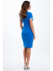 Športové modro-bielé polo šaty
