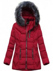 Štýlová dámska zimná bunda B9901 červená