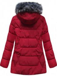 Štýlová dámska zimná bunda B9901 červená #1