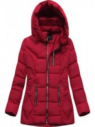 Štýlová dámska zimná bunda B9901 červená #2