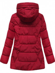 Štýlová dámska zimná bunda B9901 červená #3