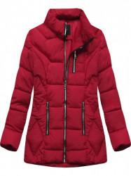 Štýlová dámska zimná bunda B9901 červená #4