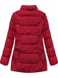 Štýlová dámska zimná bunda B9901 červená #5