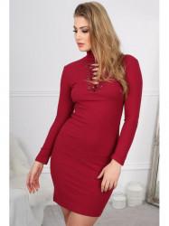 Štýlové bordové mini šaty #3