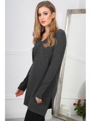 Štýlové, minimalistické, šedé mini šaty