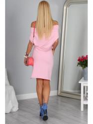 Svetlo ružové krátke šaty 9978