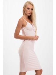 Svetlo ružové šaty s viazaním na dekolte 3550
