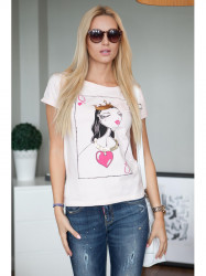Svetlo-ružové tričko
