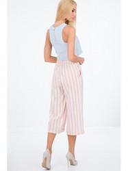 Svetlo ružové voľné nohavice