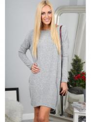 Svetlo šedé šaty