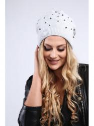 ea981d127 Svetlo sivá dámska čiapka s korálkami C17