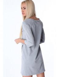 Svetlo sivé dámske šaty 3778