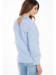 Svetlomodrá kockovaná košeľa 21275