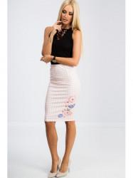 Svetloružová sukňa