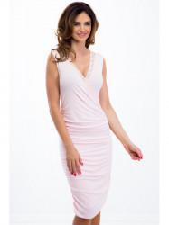 Svetloružové koktejlové šaty