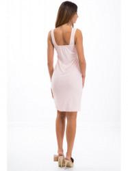3df7eedbcfd6 Svetloružové šaty na ramienka 3555