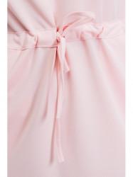 Svetloružové šaty so šnúrkou