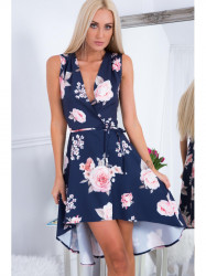 Tmavo modré šaty s kvetmi ZZ291 #1