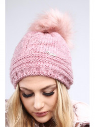 Tmavo ružová dámska čiapka C10