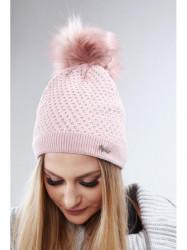 Tmavo ružová dámska čiapka C16