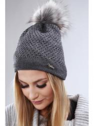 Tmavo sivá dámska čiapka C16