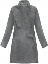 Tmavo sivý dámsky dlhý prechodný kabát 6801 #3