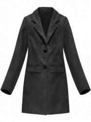 Tmavo sivý dámsky prechodný kabát 0760