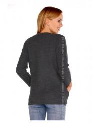 Tmavo sivý dámsky sveter Hetiena