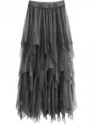 Tylová maxi sukňa 479ART tmavošedá
