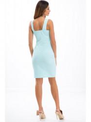 d27ebe608998 Tyrkysové šaty na ramienka 3555