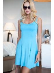 Voľné, modré šaty
